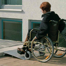 Wheelchair entrance ramp