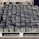 Reclaimed dark granite cobbles