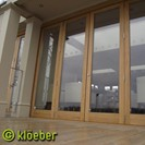 Oak bifold doors - Kustomfold