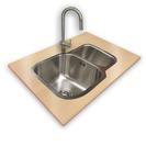 Flushmounted sink