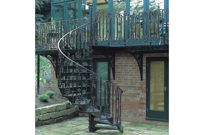 Victorian Exterior Staircase Spiral staircase brochure