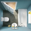 Compact Bathroom Set in White