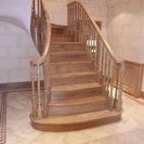 Oak wreathed string staircase