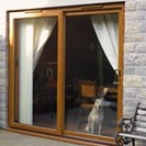Oak patio door
