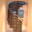 Spiral Staircase with Decorative Panels