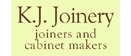 Logo of K J Joinery - Bespoke Joinery and Cabinetry