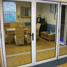 White 4 Pane Bi-Folding Doors